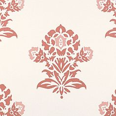 Coral Jaipur Fabric by the Yard | Serena & Lily