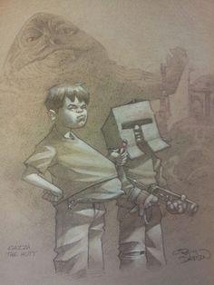 Star Wars: In A Backyard Far Far Away - Jabba the Hutt and Bobba Fett // Craig Davison