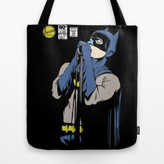 Post-Punk Bat   The Shadowplay Edition Tote Bag by Butcher Billy - $22.00