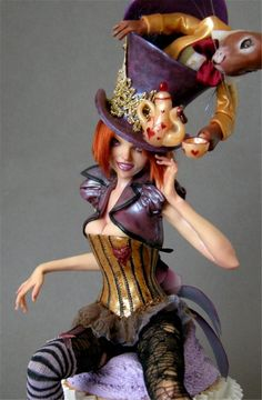 Mad Hatter Diva - Nicole West Fantasy Art