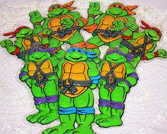 Teenage Mutant Ninja Turtles Wall Hangings Set of 7 by Pooyabee, $20.00