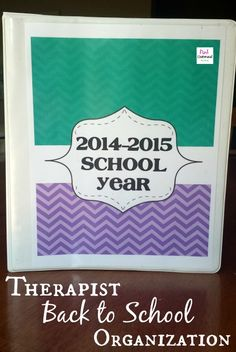 Therapist Back To School Planning and Organization - Pink Oatmeal  Includes FREE and priced items in the post.