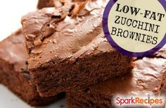 low fat zucchini brownies (123 calories each)