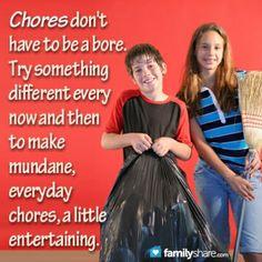 10 ways to make chores fun #parenthood #teaching #kids