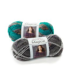 Boutique Magical - Magical is four yarns in one! Shiny, brushed, metallic and multicolored fibers come together to make one gorgeous yarn. Beautiful, striped patterns form as you knit or crochet, making it ideal for trendy accessories or garments. Magical has enough yardage to make a great one ball scarf.