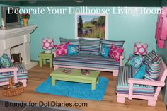 Decorate Your Dollhouse Living Room