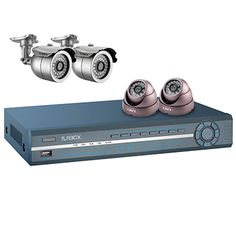 Turbo-X DVR Kit TXN-4522. Ιδανική λύση για την παρακολούθηση έως 4 χώρων στο σπίτι ή το γραφείο.