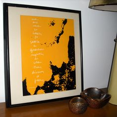 """An """"Expression of Advertising Philosophy"""" series screenprint by Sister Corita Kent. Thrifted by Scott Lindberg."""