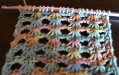 Lots of Crochet Stitches by M. J. Joachim: Narcissus Lace Tunisian Stitch