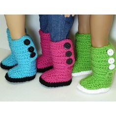 Mini Sweater Boots - American Girl Dolls - via @Craftsy