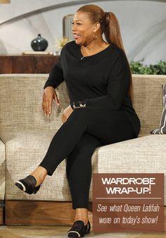 Queen Latifah Wardrobe Wrap-up 10.29.13