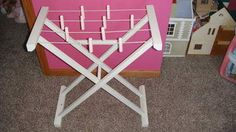 POTTERY BARN KIDS DOLL CLOTHES DRYING RACK