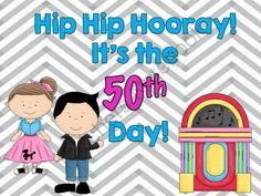 Hip Hip Hooray, Its the 50th Day of School Today! from Fabulous in 4th! on TeachersNotebook.com -  (29 pages)  - Everything you need to celebrate the 50th day of school in style!