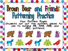 Brown Bear, Brown Bear Patterning Independent Practice Pages :)  $