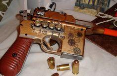 Steampunk Gun Pistol. $26.00, via Etsy.