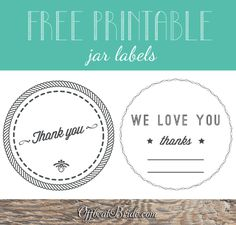 Free printable jam labels for thank-you wedding favors