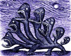 Monstros em GIF por Dain Fagerholm