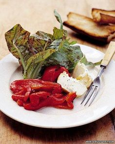 Grilled Peppers and Goat Cheese Salad Recipe