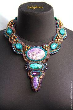 "Колье, бусы ручной работы. Ярмарка Мастеров - ручная работа Колье "" Ариадна "". Handmade. bead stuff, bead weav, wire bead, beadwork, bead embroideri"