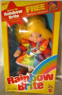 MATTEL: 1983 Rainbow Brite Dress-Up Doll #Vintage #Toys