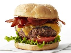 Bacon Cheese Burger Recipe : Food Network Kitchen : Food Network - FoodNetwork.com