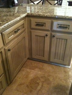 Love these cabinets and countertops!  inallclaireness: My DIY Kitchen cabinets!!!