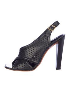 Céline Perforated Sandals
