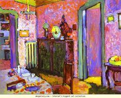Wassily Kandinsky. Interior (My Dining Room). Olga's Gallery.