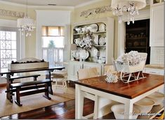 Love this farmhouse tour!  The neutral decorating with silver and glitter and white is perfect!  thistlewoodfarms.com
