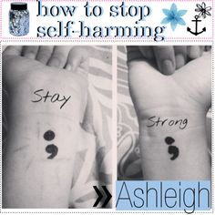 how to stop yourself from self harming