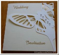 Butterfly wedding Invitation 4
