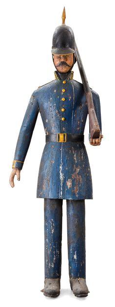 Swedish 19th century wooden soldier