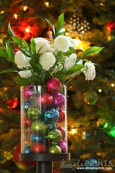 Create a Fabulous Holiday Flower Centerpiece with Bouqs - Dimple Prints