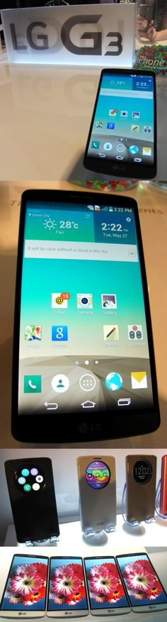 Two plus four equals LG G3. The LG G3 Android smartphone has an ultra-sharp 5.5-inch Quad HD IPS display with four times the pixels (538 ppi) than an HD screen plus two LED flash guns for its 13MP camera. The @LG USA G3 has no side buttons—just a multifunction button on the rear—and a laser focusing system that snaps images into focus in less time than it takes your eye to blink. The unit, unveiled today (May 27) also has a tap-to-unlock feature, a kill switch and can be charged wirelessly.