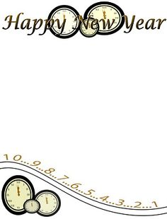this is a CUTE CLOCK NEW Year Page... the pic doesn't click thru to a good link...but you can get a great idea from this !