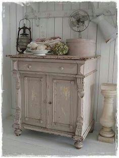 vintag, shabby chic, shabbi chic, cabinet, pink kitchens, bathroom sinks, furnitur, farm houses, shabby cottage