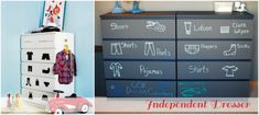 Kids Dresser with clothing pictures