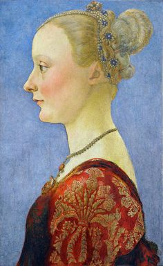 Portrait of a Young Lady by Antonio Pollaiuolo (Italian, 1429/1433-1498), ca.  1470-75