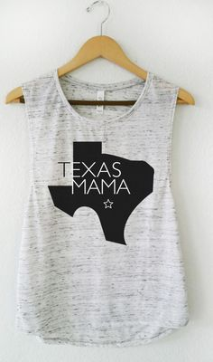 Texas Mama, Graphic Tee, Marble White, Muscle Tank, Mom Gift, Mom Tee by MamaBirdAndCo on Etsy