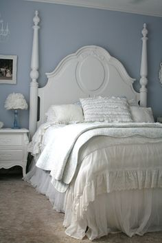 For the love of white: My Romantic Bedroom