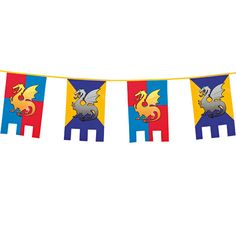 Un espectacular banderín para decorar fiestas medievales - de www.fiestafacil.com, $3.40 / A spectacular pennant to decorate your medieval party - from www.fiestafacil.com