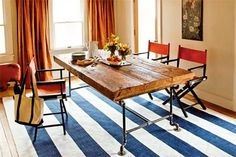 How to Build a Table from Salvaged Beams (Photo: Kristen Larsen)