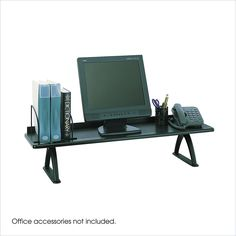 "Safco Black 42"" Desk"