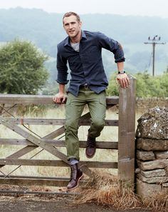 J.Crew rugged men's clothes.