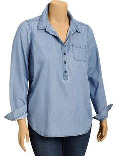 Old Navy | Women's Plus Chambray Shirts