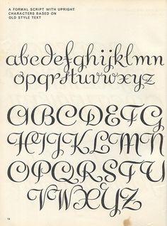 Lettering ideas for invitations Script lettering (1957) p8
