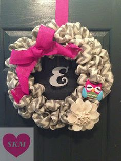 Burlap Wreath for little girl- how to