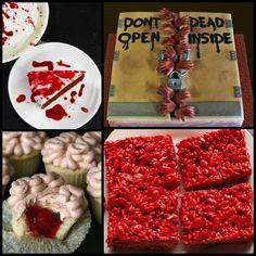 A.P.W.~Walking Dead Party dessert ideas