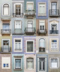 Lisbon windows montage Lisboa e as suas janelas
