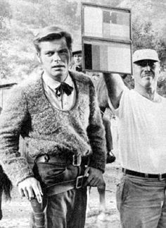 """Robert Wagner prepares for a scene in """"The True Story of Jesse James"""" ('57)."""